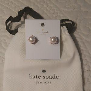 Kate Spade New York Pearl Rose Gold Earrings